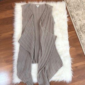 Neiman Marcus XS Women's Stone Colored Cardigan